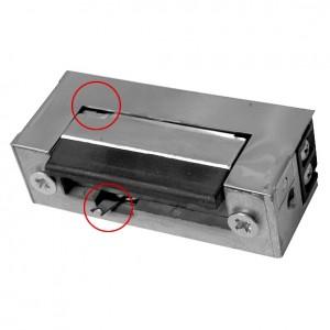 Akcesoria do wideodomofonów i do RE-28G2 - RYGIEL ELEKTROMAGNETYCZNY (ELEKTROZACZEP) RE-28G2 Symetryczny Z Pamięcią I Wyłącznikiem 12V AC/DC - Podgląd zdjęcia nr 1